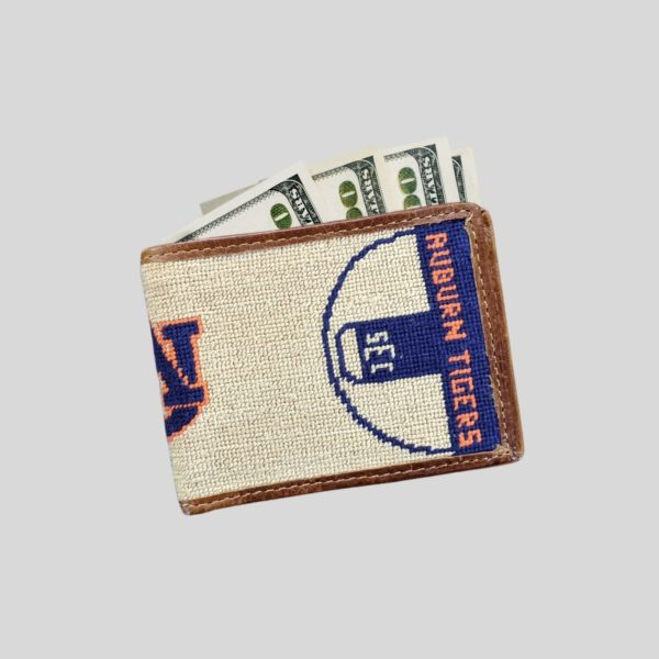 Auburn Collegiate SEC Basketball Needlepoint Bi-Fold Wallet