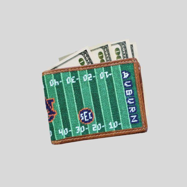 Auburn Collegiate SEC Football Needlepoint Bi-Fold Wallet