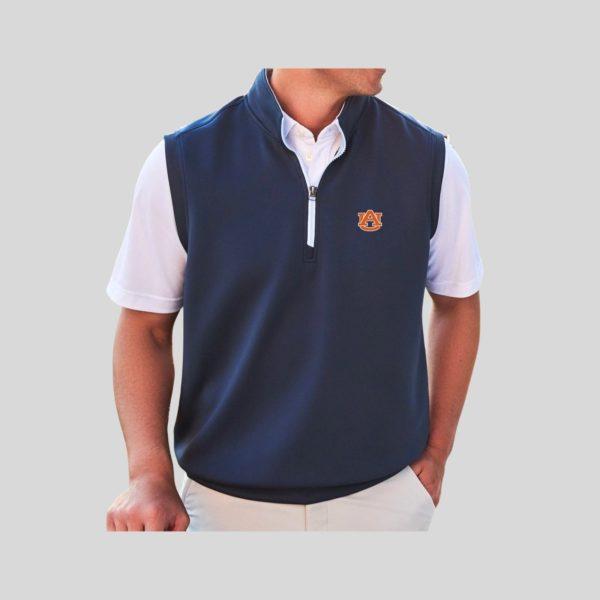 Johnnie-O Auburn Del 1/4 Zip Pullover Vest