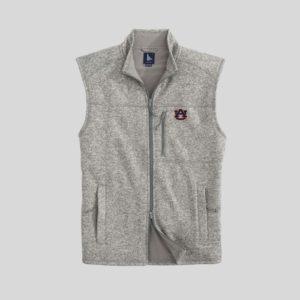 Johnnie-O Auburn Wes Zip Front Grey Vest