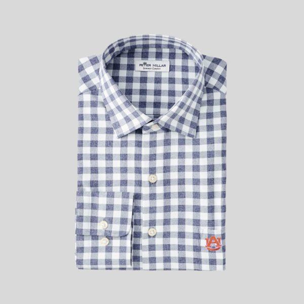Peter Millar Auburn Homer Natural Touch Sport Shirt